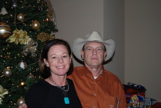 Steve and Laureen at Christmas