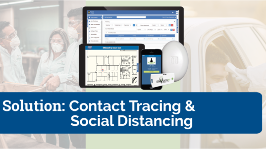 RTLS solution for social distancing and contact tracing